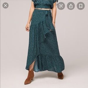 Band of gypsies green maxi skirt